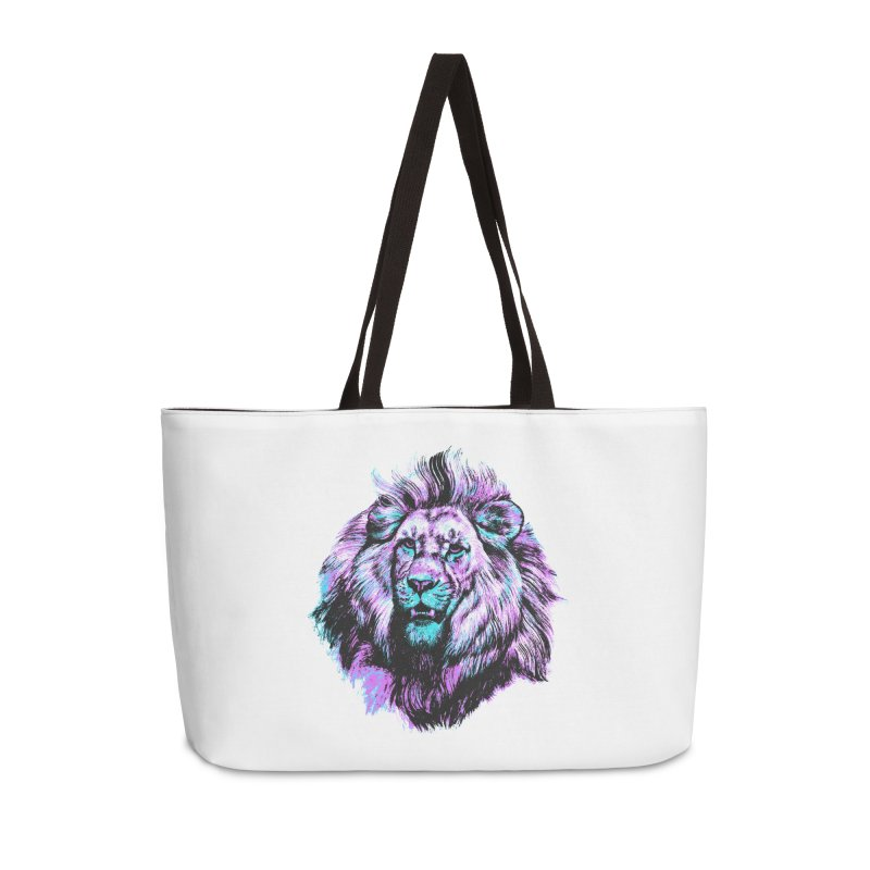 The Neon King Accessories Weekender Bag Bag by chevsy's Artist Shop