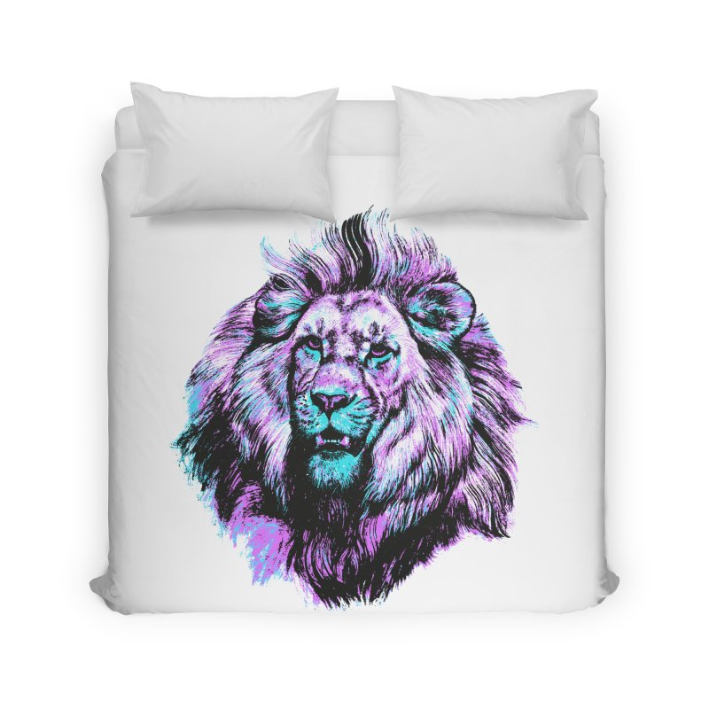 The Neon King Home Duvet by chevsy's Artist Shop