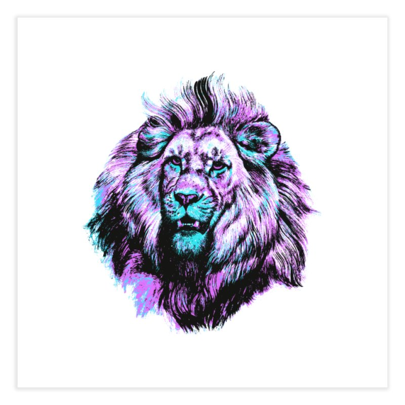 The Neon King Home Fine Art Print by chevsy's Artist Shop