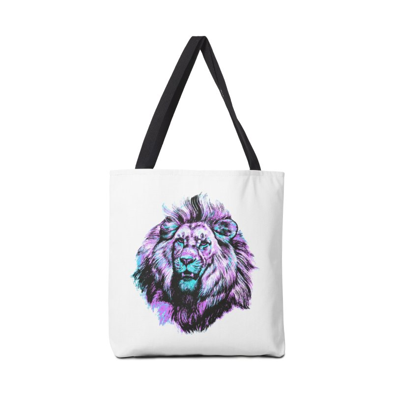 The Neon King Accessories Tote Bag Bag by chevsy's Artist Shop