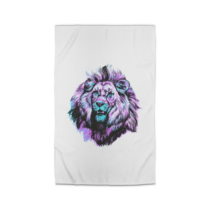 The Neon King Home Rug by chevsy's Artist Shop