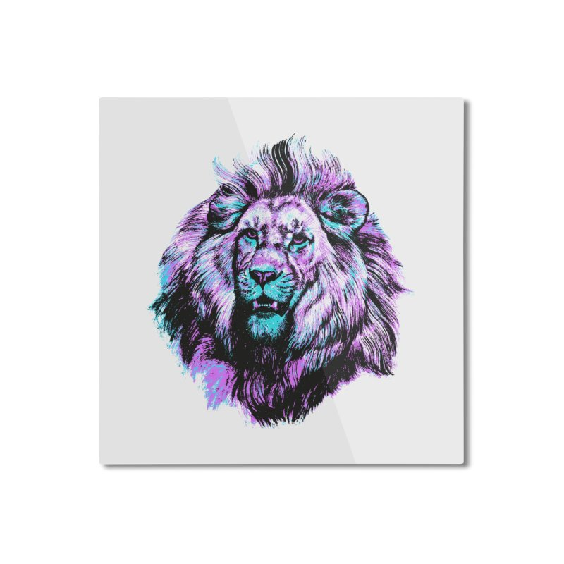 The Neon King Home Mounted Aluminum Print by chevsy's Artist Shop
