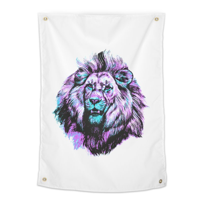 The Neon King Home Tapestry by chevsy's Artist Shop