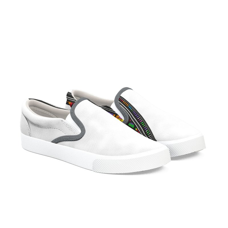 A Window To The Past - Tetris Women's Slip-On Shoes by chevsy's Artist Shop