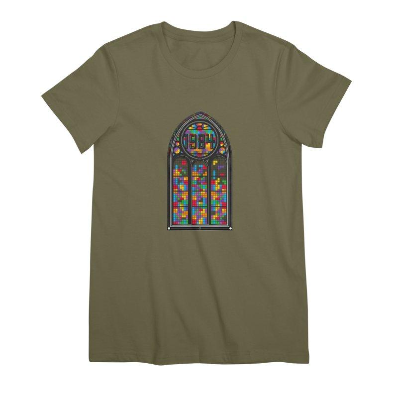 A Window To The Past - Tetris Women's Premium T-Shirt by chevsy's Artist Shop