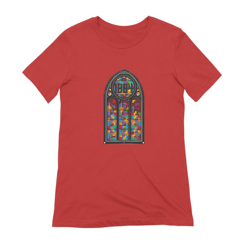A Window To The Past - Tetris Women's Extra Soft T-Shirt by chevsy's Artist Shop