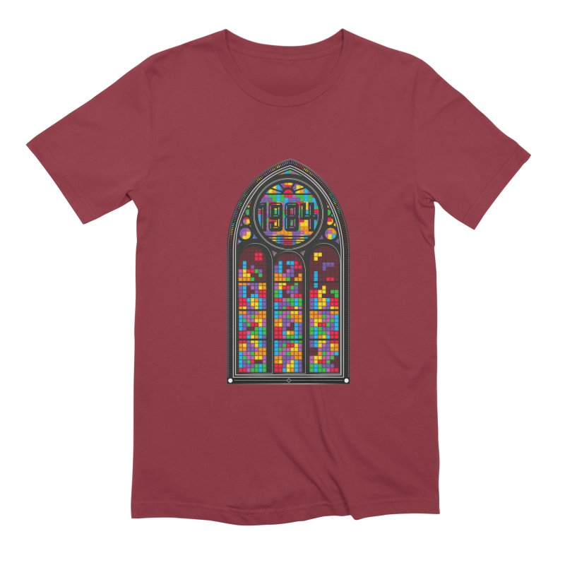 A Window To The Past - Tetris Men's Extra Soft T-Shirt by chevsy's Artist Shop