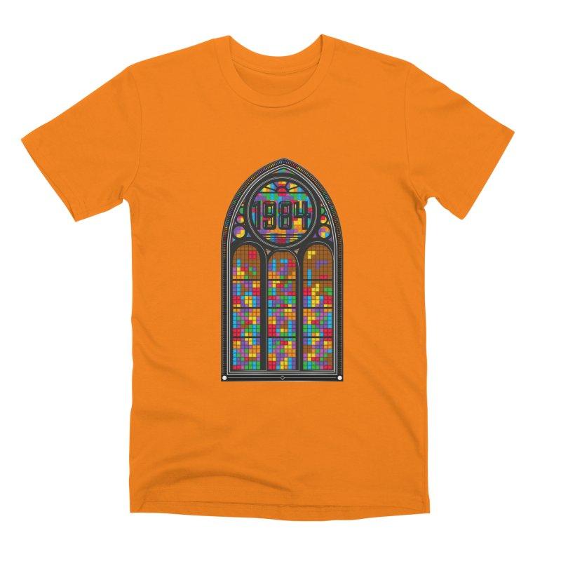 A Window To The Past - Tetris Men's Premium T-Shirt by chevsy's Artist Shop