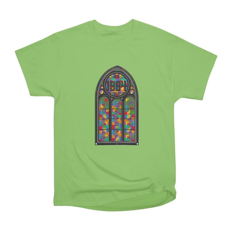A Window To The Past - Tetris Men's Heavyweight T-Shirt by chevsy's Artist Shop