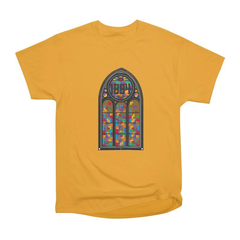 A Window To The Past - Tetris Women's Heavyweight Unisex T-Shirt by chevsy's Artist Shop