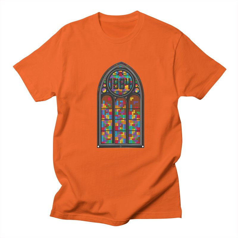 A Window To The Past - Tetris Men's Regular T-Shirt by chevsy's Artist Shop
