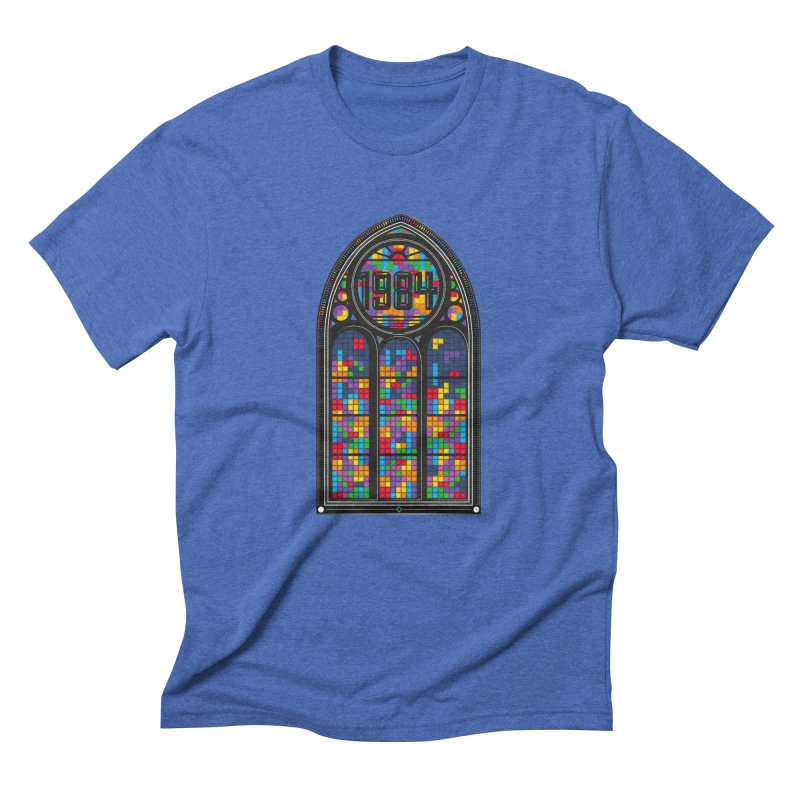 A Window To The Past - Tetris Men's Triblend T-Shirt by chevsy's Artist Shop