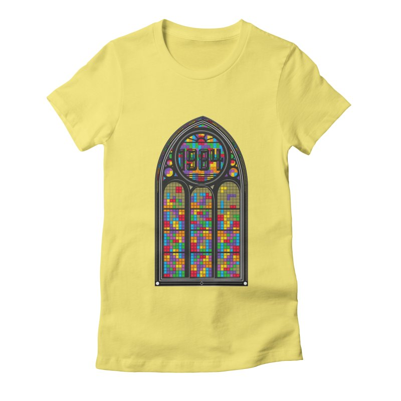 A Window To The Past - Tetris Women's Fitted T-Shirt by chevsy's Artist Shop