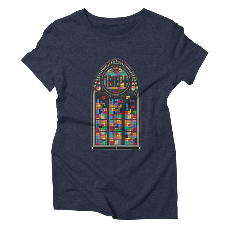 A Window To The Past - Tetris Women's Triblend T-Shirt by chevsy's Artist Shop