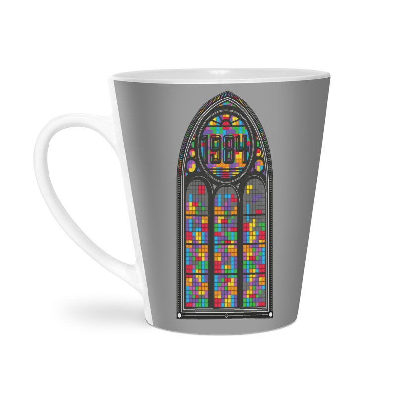 A Window To The Past - Tetris Accessories Latte Mug by chevsy's Artist Shop