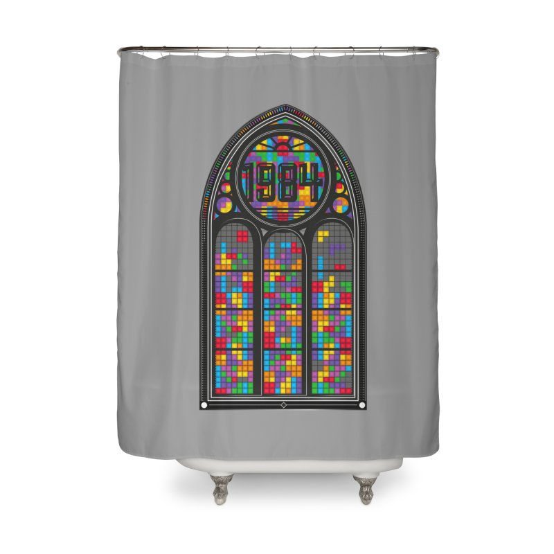 A Window To The Past - Tetris Home Shower Curtain by chevsy's Artist Shop