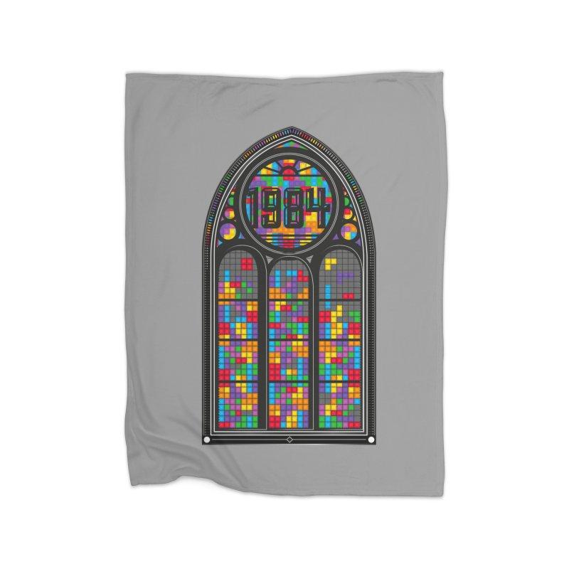 A Window To The Past - Tetris Home Fleece Blanket Blanket by chevsy's Artist Shop
