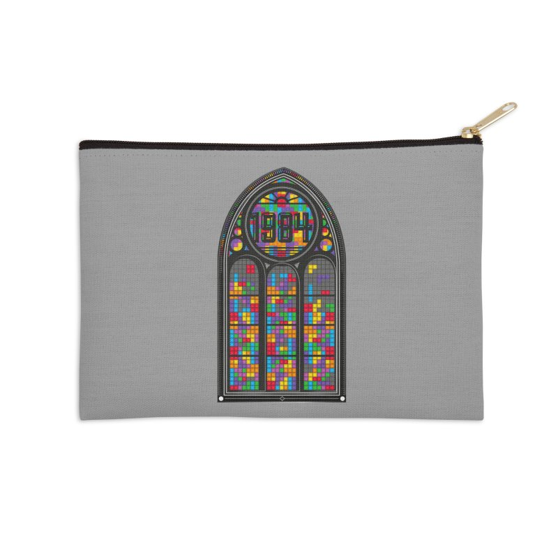A Window To The Past - Tetris Accessories Zip Pouch by chevsy's Artist Shop