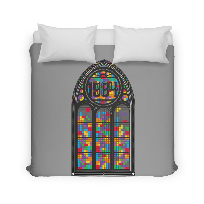 A Window To The Past - Tetris Home Duvet by chevsy's Artist Shop