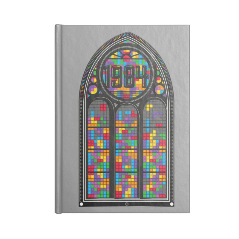 A Window To The Past - Tetris Accessories Lined Journal Notebook by chevsy's Artist Shop