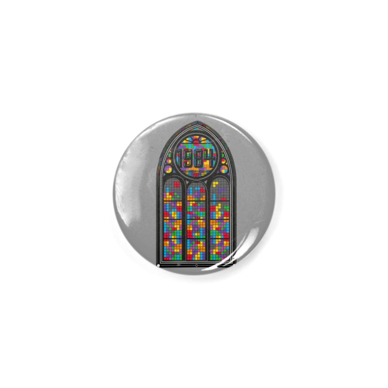 A Window To The Past - Tetris Accessories Button by chevsy's Artist Shop