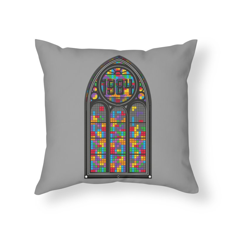 A Window To The Past - Tetris Home Throw Pillow by chevsy's Artist Shop