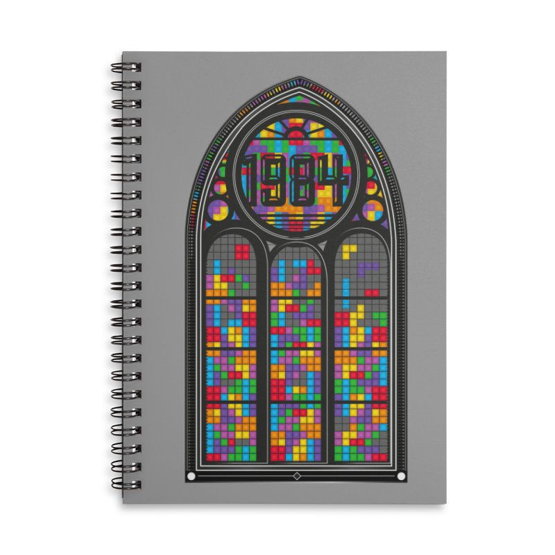 A Window To The Past - Tetris Accessories Lined Spiral Notebook by chevsy's Artist Shop