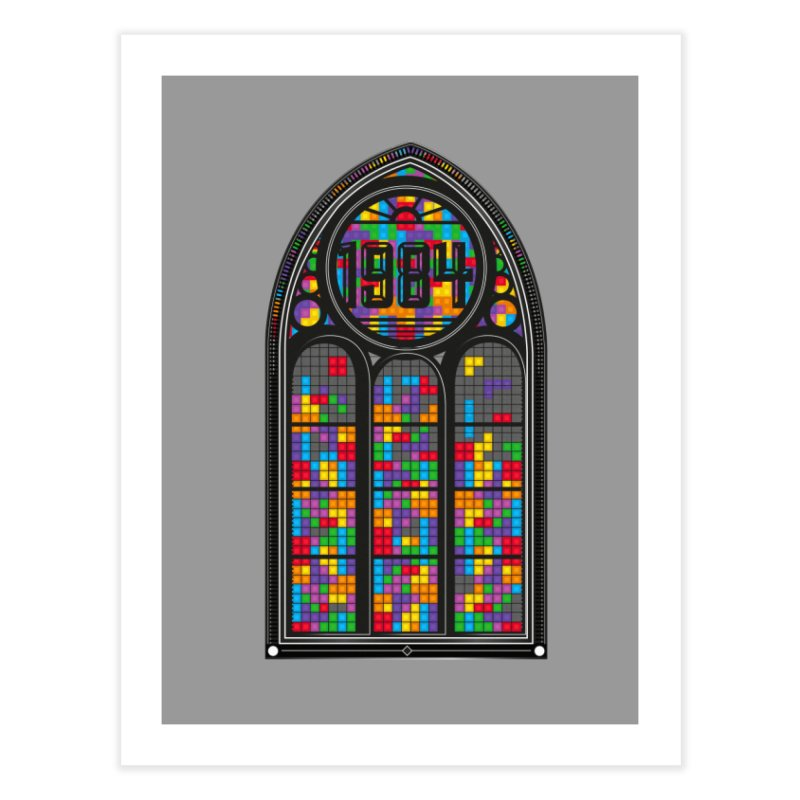 A Window To The Past - Tetris Home Fine Art Print by chevsy's Artist Shop