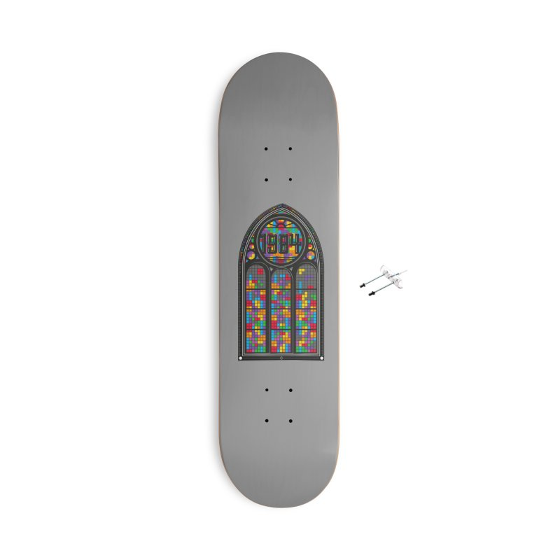 A Window To The Past - Tetris Accessories With Hanging Hardware Skateboard by chevsy's Artist Shop