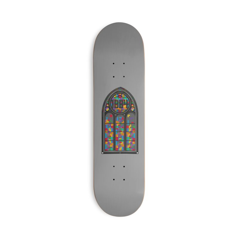 A Window To The Past - Tetris Accessories Deck Only Skateboard by chevsy's Artist Shop