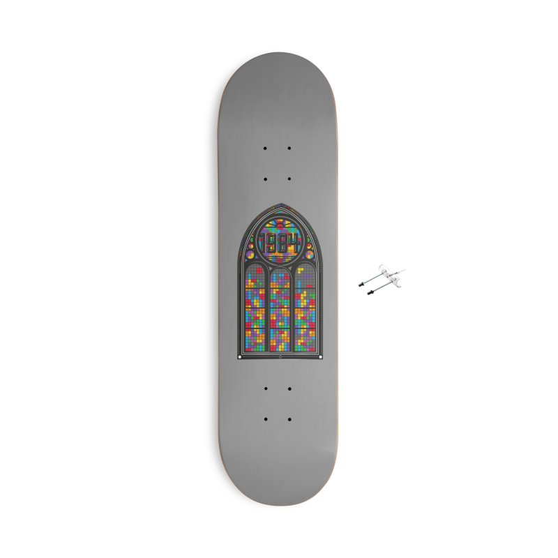 A Window To The Past - Tetris Accessories Skateboard by chevsy's Artist Shop