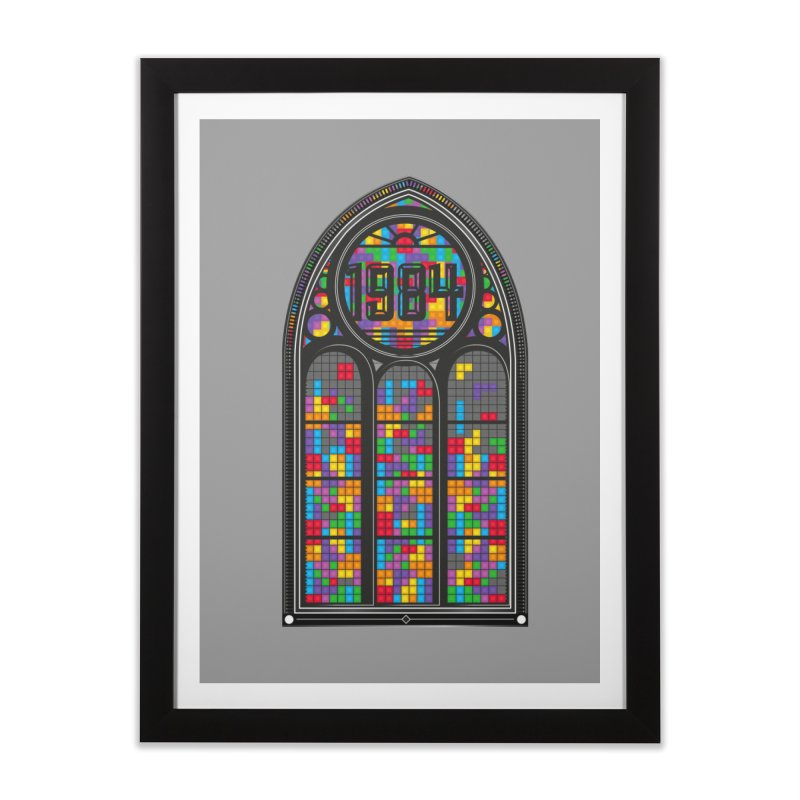 A Window To The Past - Tetris Home Framed Fine Art Print by chevsy's Artist Shop