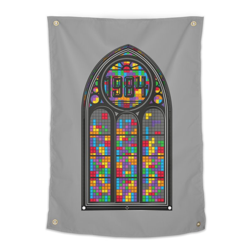 A Window To The Past - Tetris Home Tapestry by chevsy's Artist Shop