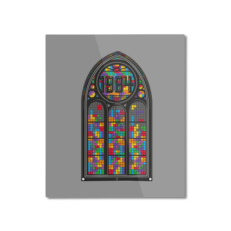 A Window To The Past - Tetris Home Mounted Aluminum Print by chevsy's Artist Shop