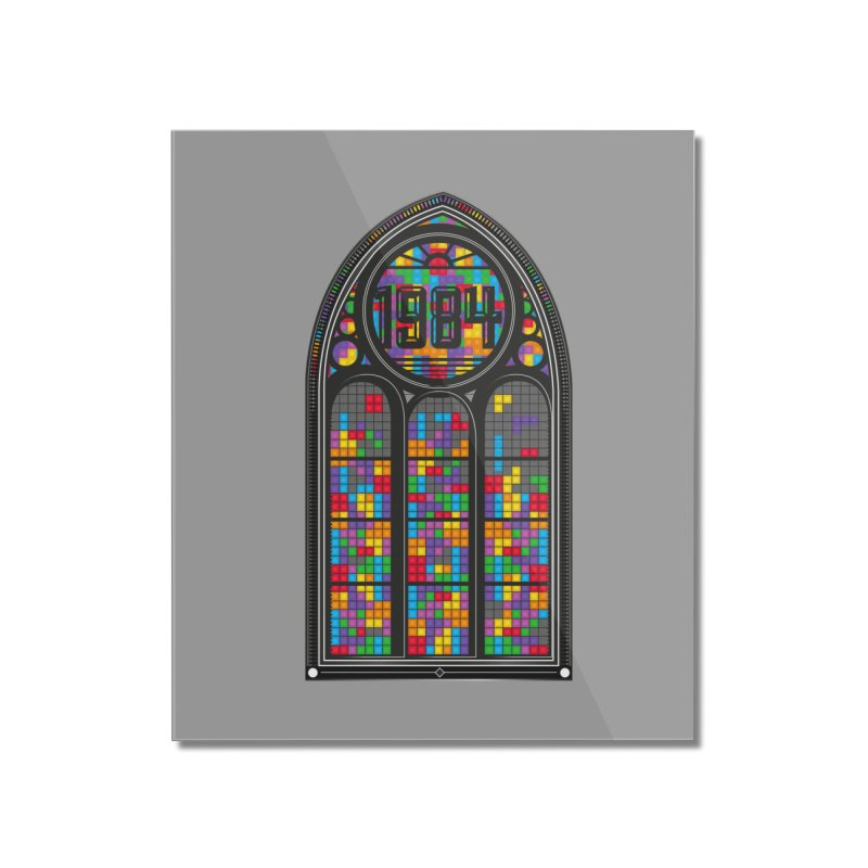 A Window To The Past - Tetris Home Mounted Acrylic Print by chevsy's Artist Shop
