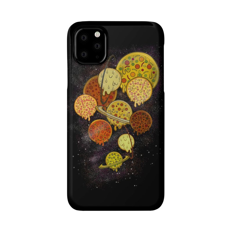 THE PLANETS OF PIZZA Accessories Phone Case by chevsy's Artist Shop