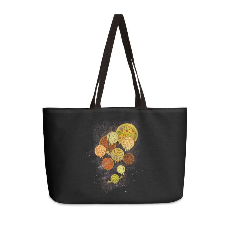 THE PLANETS OF PIZZA Accessories Bag by chevsy's Artist Shop
