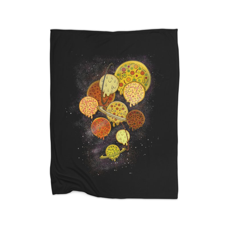 THE PLANETS OF PIZZA Home Blanket by chevsy's Artist Shop