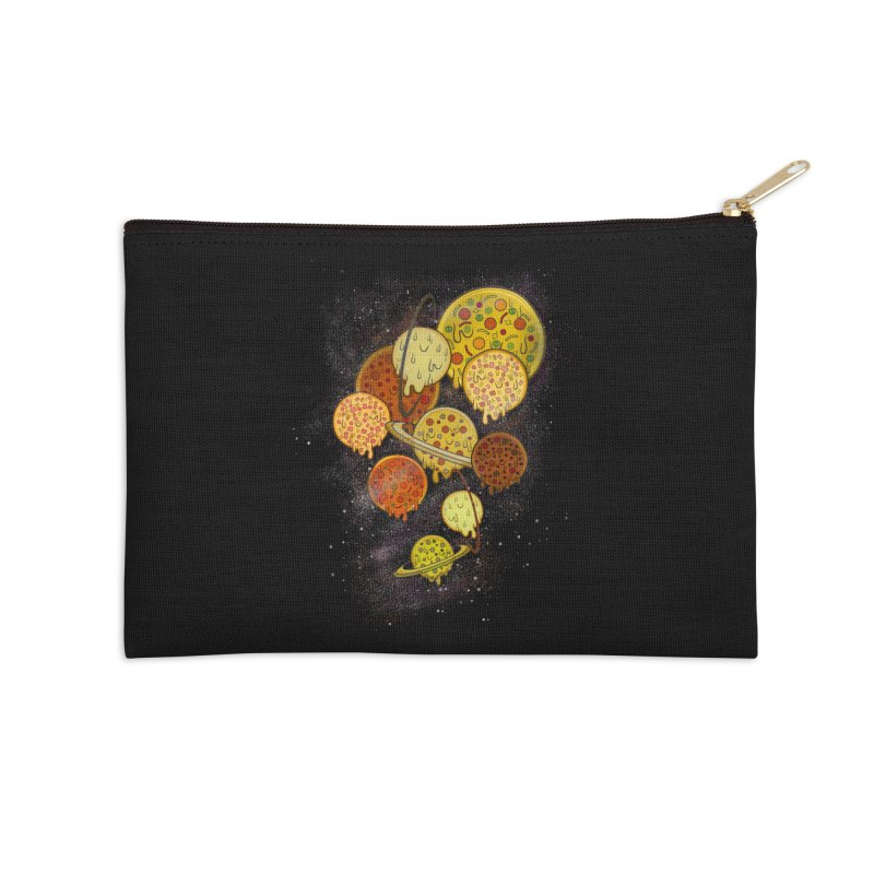THE PLANETS OF PIZZA Accessories Zip Pouch by chevsy's Artist Shop