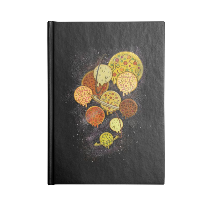 THE PLANETS OF PIZZA Accessories Lined Journal Notebook by chevsy's Artist Shop