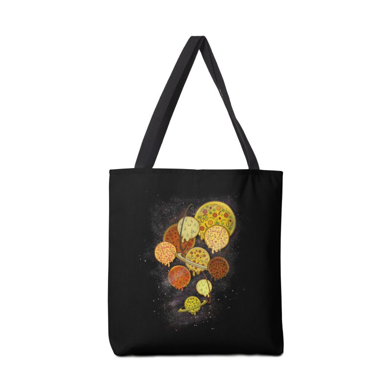 THE PLANETS OF PIZZA Accessories Tote Bag Bag by chevsy's Artist Shop