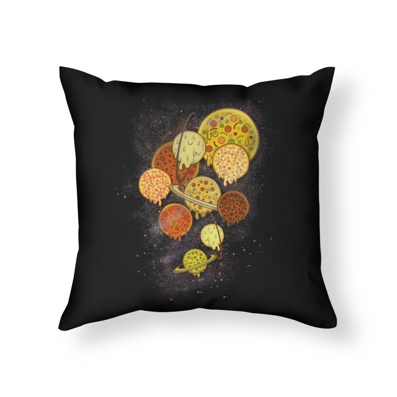 THE PLANETS OF PIZZA Home Throw Pillow by chevsy's Artist Shop