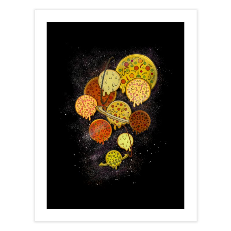 THE PLANETS OF PIZZA Home Fine Art Print by chevsy's Artist Shop