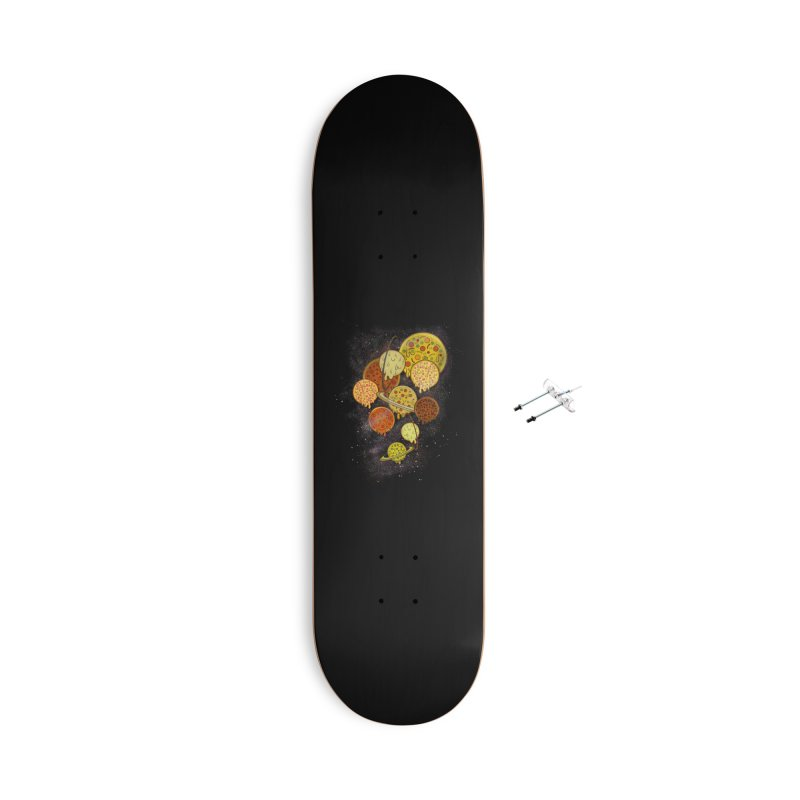 THE PLANETS OF PIZZA Accessories With Hanging Hardware Skateboard by chevsy's Artist Shop