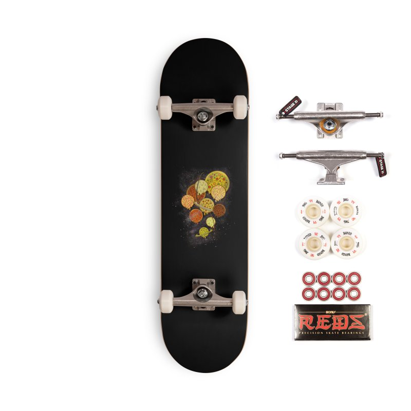 THE PLANETS OF PIZZA Accessories Complete - Pro Skateboard by chevsy's Artist Shop