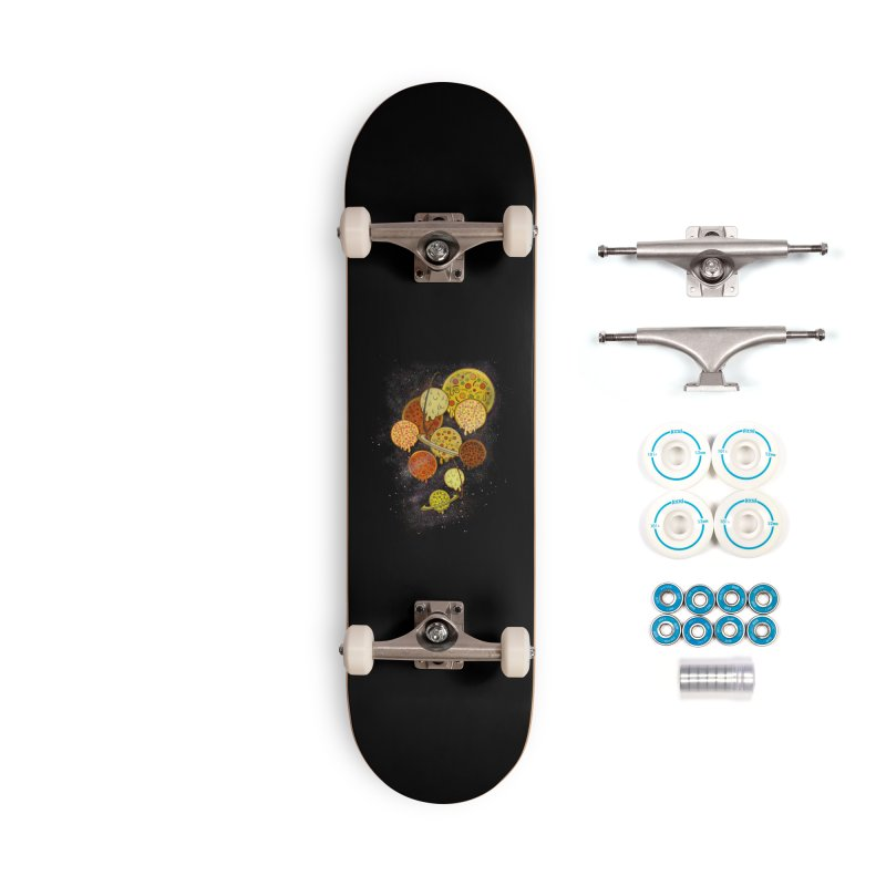 THE PLANETS OF PIZZA Accessories Complete - Basic Skateboard by chevsy's Artist Shop