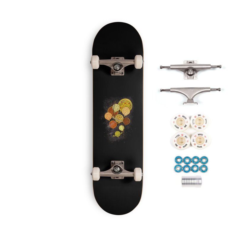 THE PLANETS OF PIZZA Accessories Complete - Premium Skateboard by chevsy's Artist Shop
