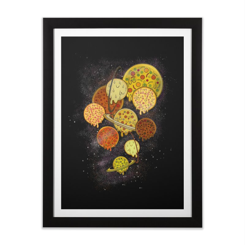 THE PLANETS OF PIZZA Home Framed Fine Art Print by chevsy's Artist Shop