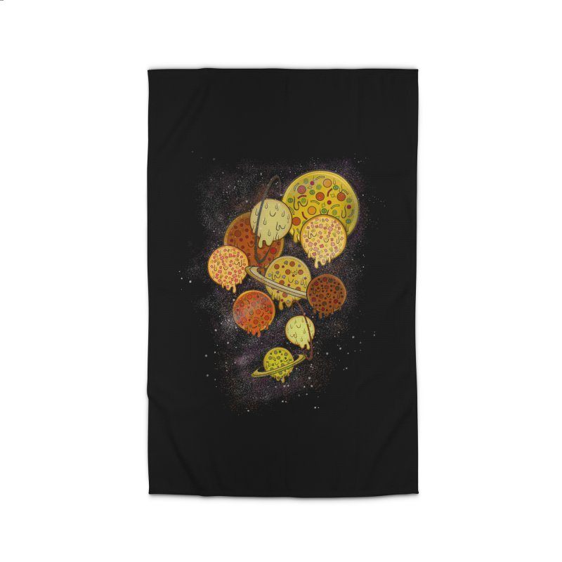 THE PLANETS OF PIZZA Home Rug by chevsy's Artist Shop