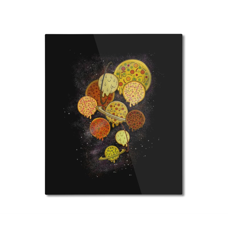 THE PLANETS OF PIZZA Home Mounted Aluminum Print by chevsy's Artist Shop